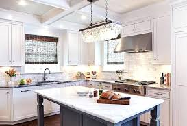 pottery barn clarissa chandelier crystal drop extra long rectangular chandelier with gray kitchen island pottery barn