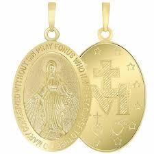 14k gold virgin mary pendant