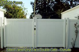Vinyl fence double gate Foot Vinyl Fencing Is Fully Functional As Well As Beautiful Our Vinyl Fencing Comes In Many Different Styles Including Full Privacy Fence Semi Privacy Fence Taylor Made Fencing Vinyl Fencing In St George Utah Taylor Made Fencing