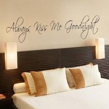 Always Kiss Me Goodnight Wall Decal Bedroom Decor Wall Decal Love Wall Decal  Vinyl Lettering(