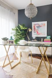chic office design. Interior Office Desks For Home Desk Furniture Modern Offices With Gold Decorations 15 Chic Design D