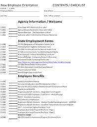 Employee Orientation Template New Employee Orientation Checklist Template Download Printable Pdf