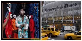burna boy makes new york times list of