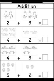 Kindergarten Printable Math Worksheets Kindergarten Addition ...