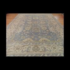 gorgeous antique wash vegetable dye oushak oriental area rug 10 x 14