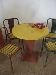 xavier pauchard french industrial dining room furniture. perfect furniture vintage kub table u0026 4 chairs by xavier pauchard for tolix sale at pamono and french industrial dining room furniture