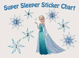 Details About A5 Print Children S Disney Frozen Reward Chart Includes Disney Frozen Stickers