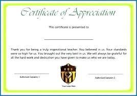 Free Appreciation Certificates Outstanding Achievement Certificate Template Printable