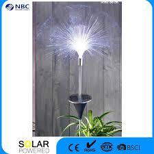 china fiber optic solar garden light