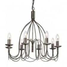 the lighting collection. REGENCY Rustic 8 Light Antique Silver Ceiling Pendant · The Lighting Collection O