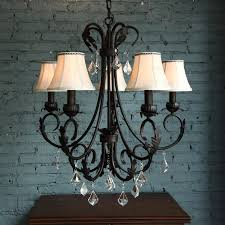 past 5 light wrought iron vintage crystal chandelier inside designs 4