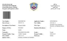 Qatar Tourist Visa Online Eta Visa Qatar