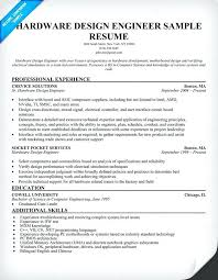 Network Technician Sample Resume Hardware Design Engineer Resume