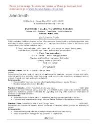 Plumber Resume Example New Water Sewer Maintenance Repair Resume