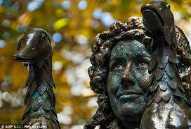 living statues have regularly been a feature of performance art installations notably by gilbert and