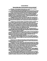 lord of the flies essay how does golding build up to the final  page 1 zoom in
