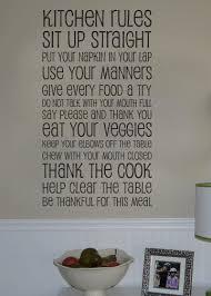 kitchen rules vinyl wall decal art 38 00 via etsy  on wall art kitchen rules with kitchen rules vinyl wall decal art 38 00 via etsy things i