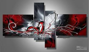 40 30cm 2 20 50cm 2 4pcs set canvas oil painting allow mix order the modern wall art home abstract decorative oil paintings framed 100 hand painted