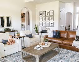 traditional modern furniture. Living Room Decor, Interior Design, Traditional, Modern, Boho, Camel  Leather Couch, Restoration Hardware Furniture, Gallery Wall, Kaila Walls Traditional Modern Furniture D
