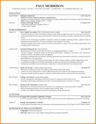 6 College Student Resume Example Resume Type