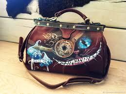 handbags handmade livemaster handmade hand painted cheshire cat doctor bag