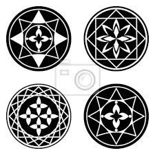 Fototapeta Květinový Ornament Tetování Nastavit Mandala Prvky Květina