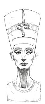 Nefertiti Sketch Nefertiti Lines By Mybonsaipatroclo On