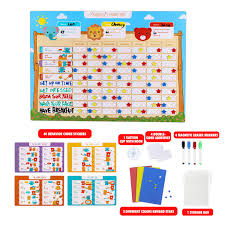 Details About Cartoon Behavior Chore Reward Chart Potty Training Responsibility Magnetic Star