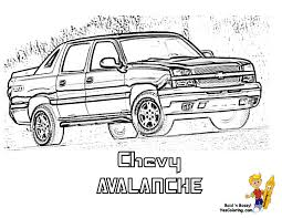 coloring chevrolet avalanche at yescoloring