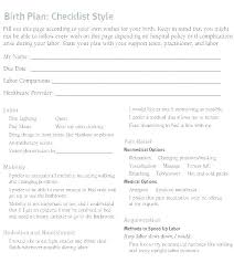 Why Is It Important To Have A Birth Plan Hospital Birth Plan Template