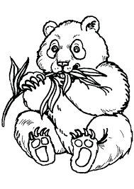 Small Picture Printable Panda Bear Coloring Pages Print Image Best Images On