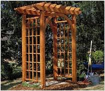 Small Picture Fine Garden Arbor Plans And Decorating Ideas