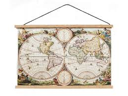 dolls house ancient world map wall hanging chart 1 12 study school accessory