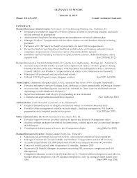 Hr Generalist Sample Resume Cv Word Format Mba Samples For