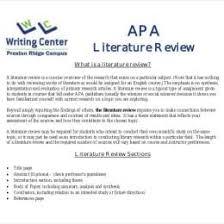 10 Literature Review Outline Templates 26734600035 Literature