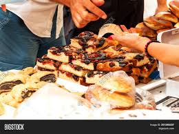 Fresh Pastries Sale Image Photo Free Trial Bigstock