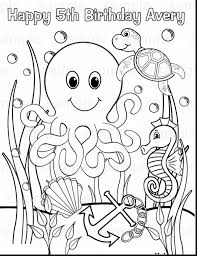 Launching Under The Sea Creatures Coloring Pages Compromise For Kids
