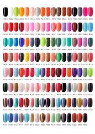 Nail Color Chart One Step Gel Polish Color Chart 01 Gel Polish Colors