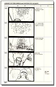 Script Storyboard Unique Ghost In The Shell Continuty Script Story Board Anime Books