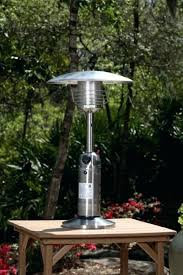 stainless steel patio heater fire sense well traveled living stainless steel table top patio heater gardensun