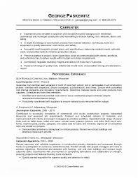 Carpenter Assistant Sample Resume Unique Carpenter Resume Objective Famous Sample Resume Carpenter Assistant