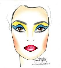 Makeup Artist Face Charts The Beauty Studio Collection Cleopatra Face Chart By Lawrence L Beauty Studio Artist