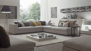 ... Wide Sectional Sofas Italian Contemporary Beautifull Furniture Designer  With Many Modern Decorations One Simple White Table ...