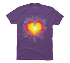 Tie Dye Heart Design Amazon Com Tie Dye Heart Mens Graphic T Shirt Design By