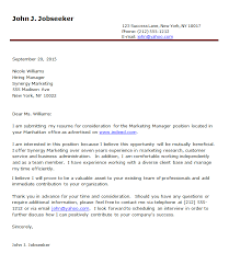 Cover Letter Examples blank