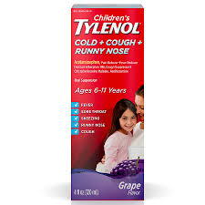 Tylenol Cold Dosage Chart Childrens Tylenol Cold Cough Runny Nose Medicine Grape