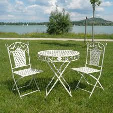 Wrought Iron Patio Chairs White Portia Double Day wrought iron