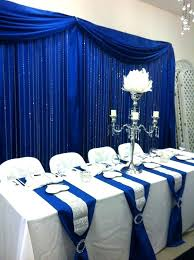 royal blue velvet curtains royal blue curtains head table with royal blue back drop and crystal royal blue velvet curtains