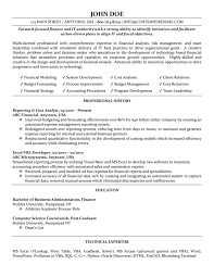 Cost Analyst Resume It Resumes Examples 2015 Finance S Sevte