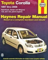 Toyota Corolla 1997 2006 Haynes Service Repair Manual - workshop car ...